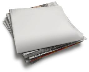 blank newspaper sheet