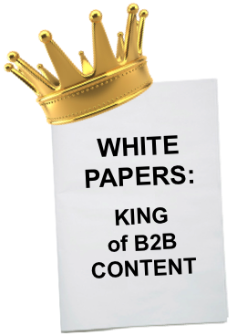 graphic of crown showing white papers are the king of content