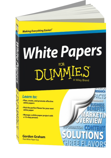 copy of the book White Papers for Dummies