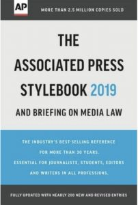 cover of AP Stylebook 2019