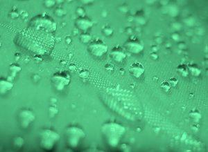 raindrops on green tarp