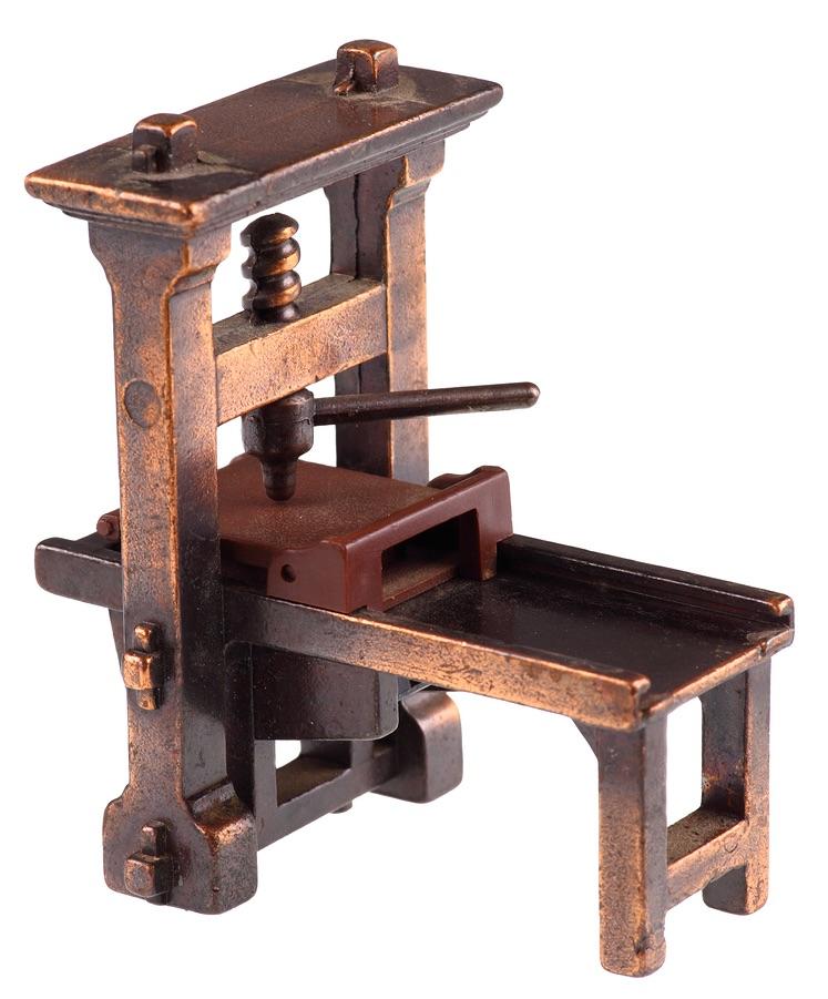 Photo of Gutenberg printing press