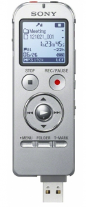 photo of Sony UX533 microrecorder for white paper interviews