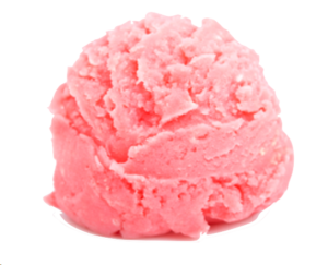 scoop of strawberry ice cream