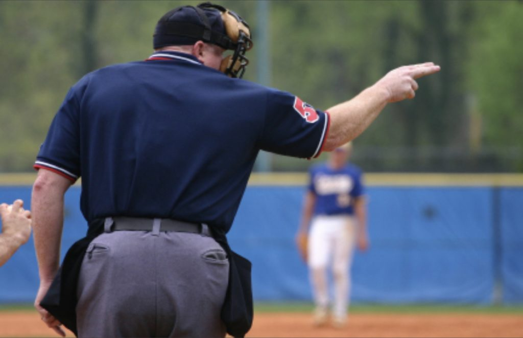 photo of baseball umpire