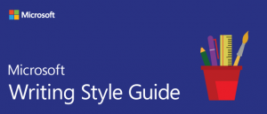 banner for Microsoft Writing Style Guide 2018