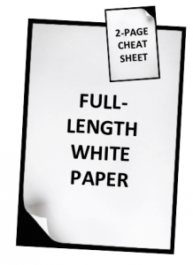 graphic of smaller cheat sheet on top of larger white paper