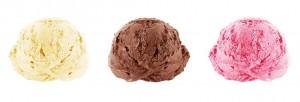 photo of 3 scoops of ice cream
