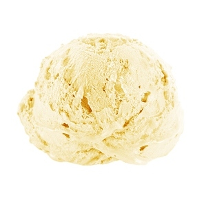 photo of vanilla ice cream scoop