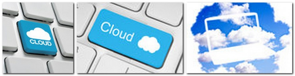 "three stock photos from a search for the word, ""cloud"""