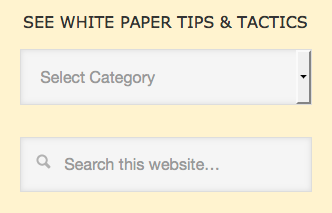 Screenshot of That White Paper Guy search box