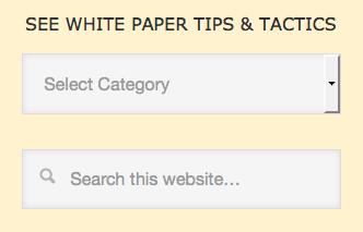 Screenshot of That White Paper Guy search box