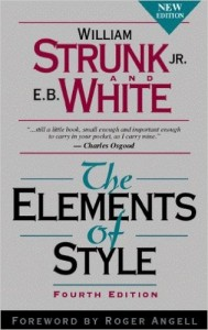 The Elements of Style, a book recommended in the list of writing tips