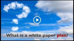 screenshot of white paper plan video
