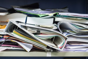 photo of messy files