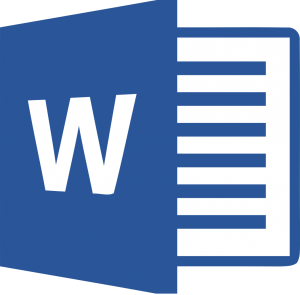 image of the Microsoft Word 2014+ logo. Microsoft Word is an option for organizing research.
