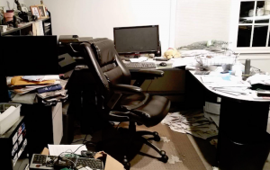 photo of messy office