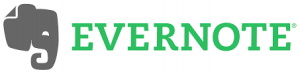 a photo of the Evernote app logo. Evernote is an option to organize your research
