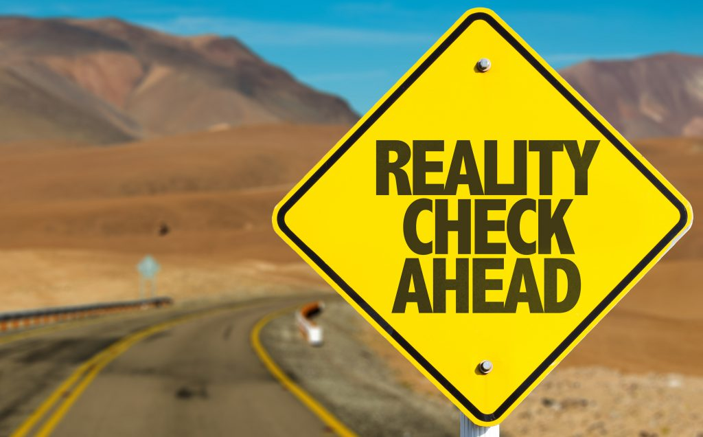reality check traffic sign on highway - Get faster approvals from B2B clients