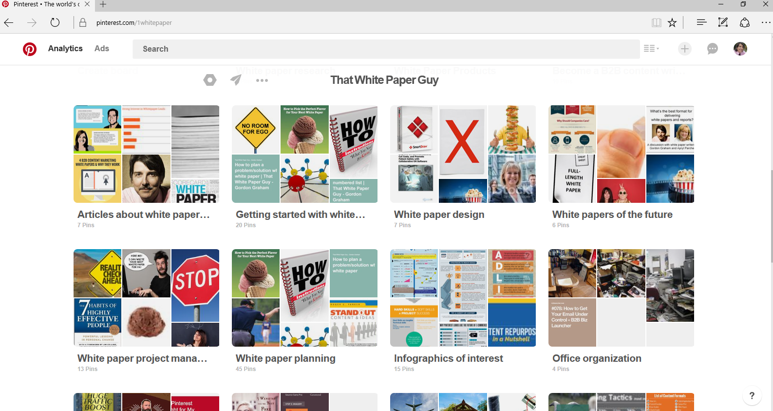 That White Paper Guy-pinterest boards-screenshot