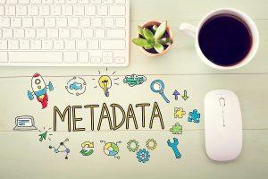 metadata concept on a desktop