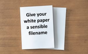 give your white papers sensible filenames