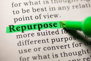 photo of the word repurpose highlighted in dictionary