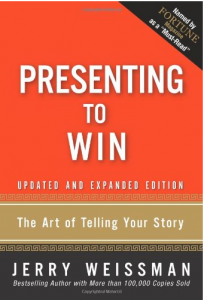 book cover-presenting to win