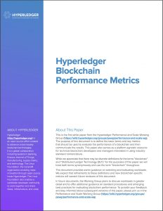 white paper Hyperledger Performance and Scale cover