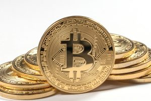 photo of golden bitcoins