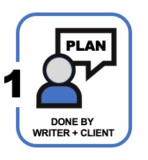 icons for phase 1 of a white paper or planning