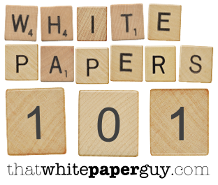 logo for white papers 101 blog posts