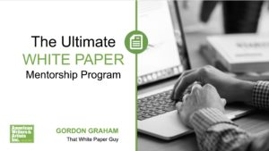 Ultimate White Paper Mentorship Program 2019