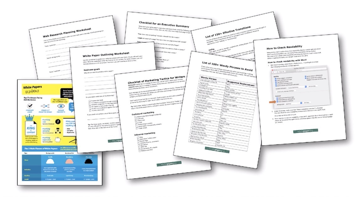 White paper training course handouts