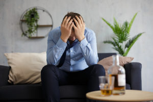 man having mid-life crisis