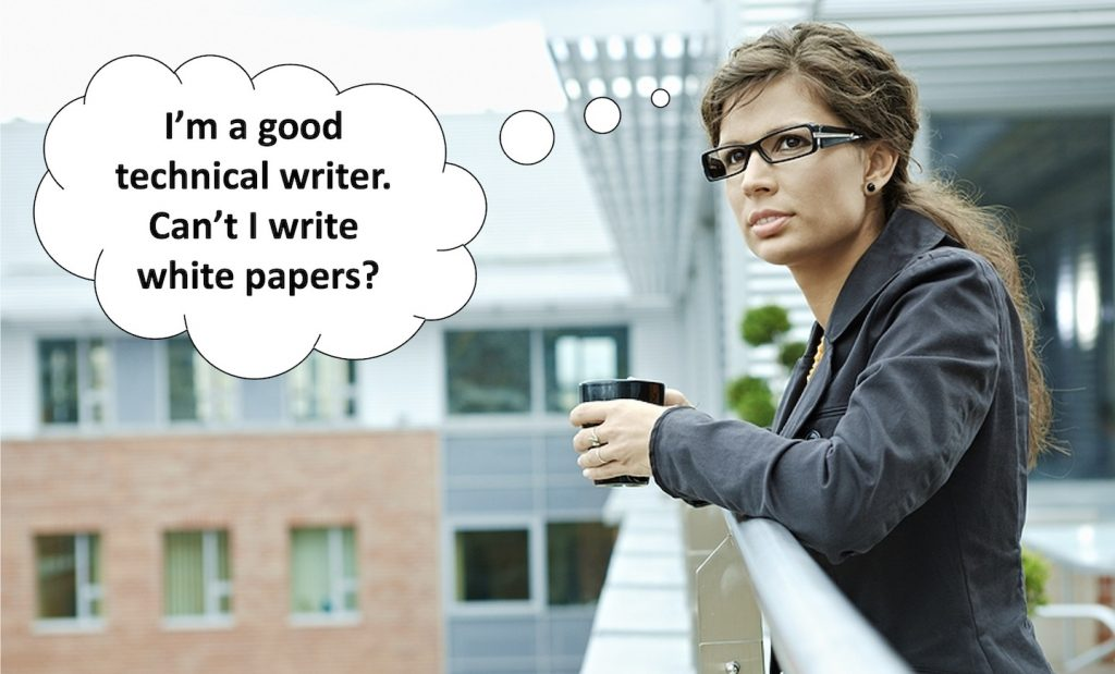 technical writer keen to write white papers