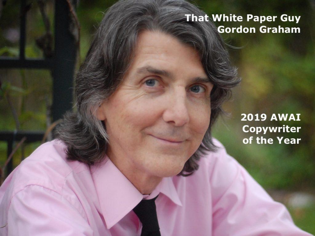 That White Paper Guy aka Gordon Graham aka AWAI Copywriter of the Year
