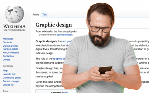 inexperienced white paper client googling graphic design