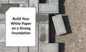 paving stones as a foundation for a strong white paper